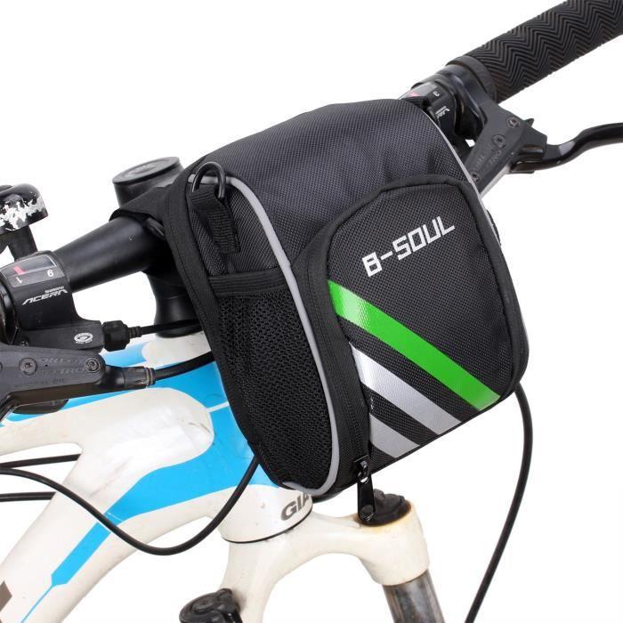 Sacoche Sac de vélo Noir Guidon triangle VTT Vélo de montagne Transport Utile