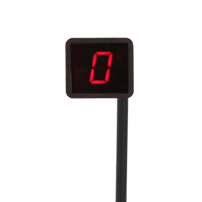Indicateur Num/érique de Vitesse pour Moto /à LED Affichage en Rouge