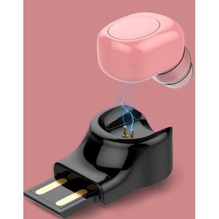 OREILLETTE BLUETOOTH  Bluetooth Casque Écouteur Oreillette or rose Sans