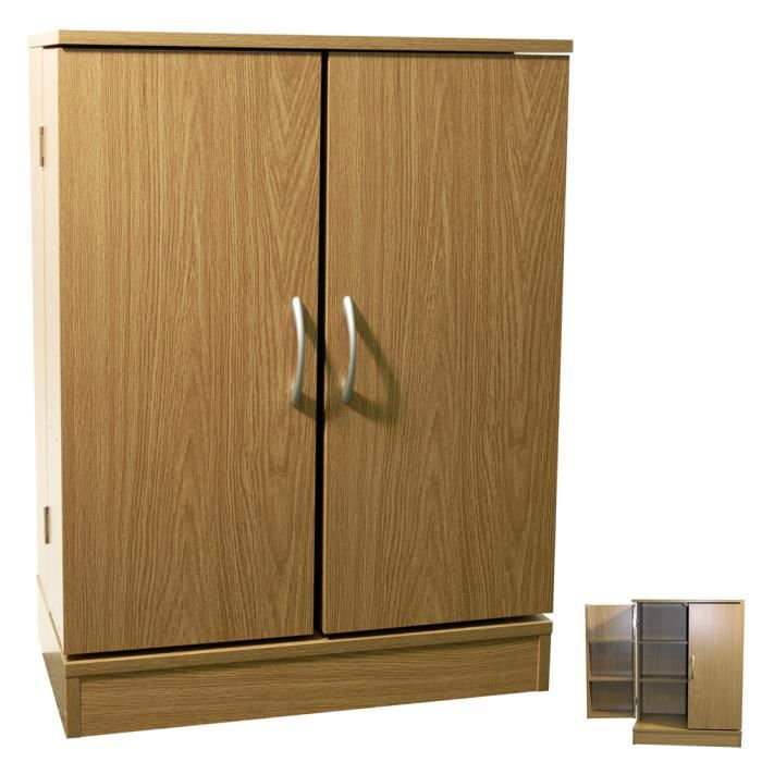 columbus armoire de rangement cd dvd 2 portes achat vente meuble range cd columbus. Black Bedroom Furniture Sets. Home Design Ideas