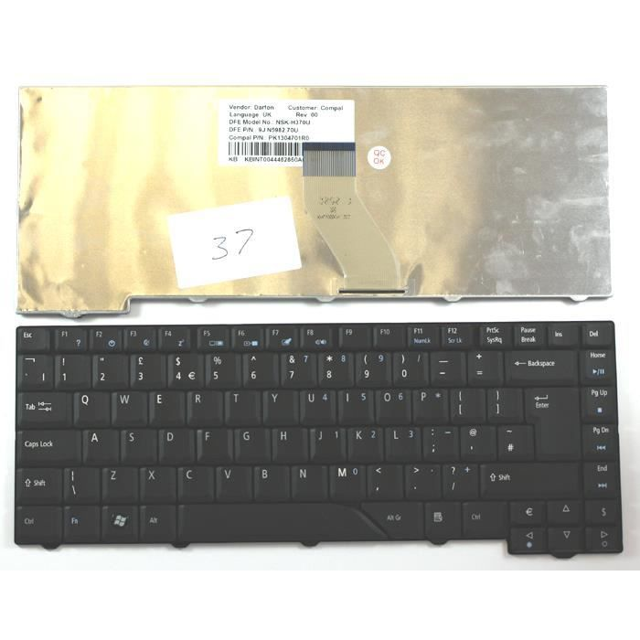 acer aspire 5720z noir layout royaume uni clavier pour. Black Bedroom Furniture Sets. Home Design Ideas