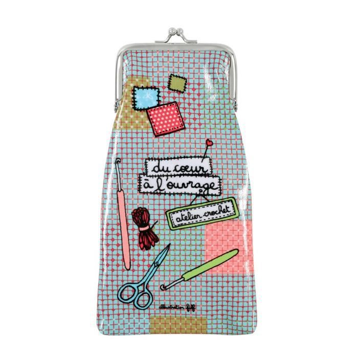 Etui crochets derri re la porte ouvrage achat vente for Decoration derriere la porte