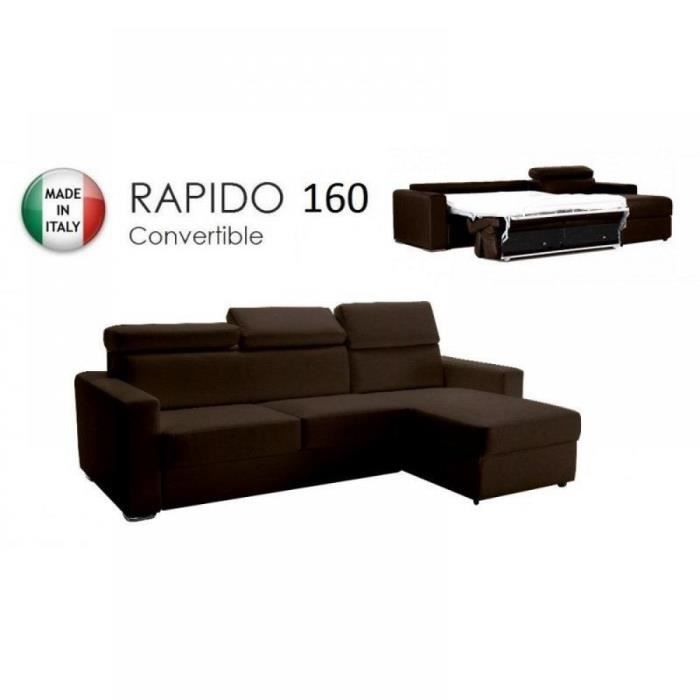 Canap d 39 angle r versible rapido sidney 160 cm achat vente canap - Canape rapido soldes ...