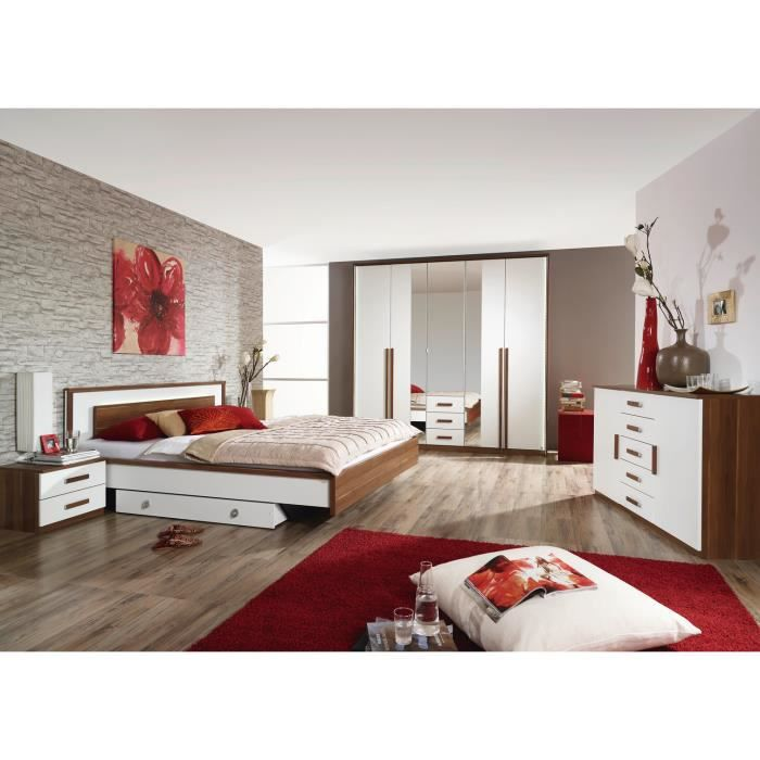 Chambre adulte compl te justine ii avec tiroir lit achat for Chambre adulte complete solde