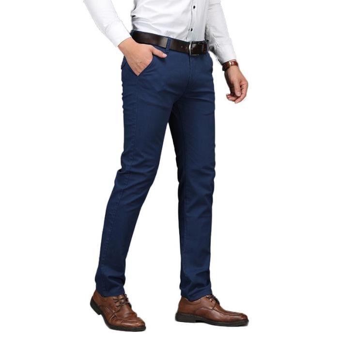 Pantalon Chino Coupe Droite Homme Couleur