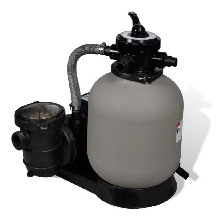 POMPE - FILTRATION Pompe à filtre à sable Pompe de piscine 600 W 17 000 l