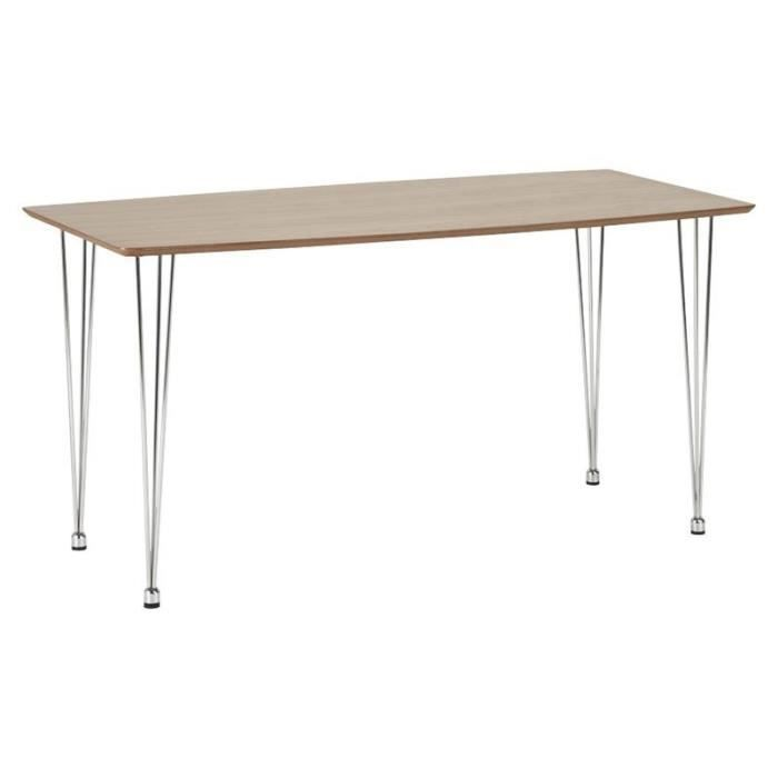 table design walnut marron paris prix achat vente