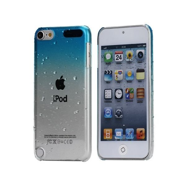 Coque ipod touch 5 housse bi teinte bleue et tra coque for Housse ipod touch