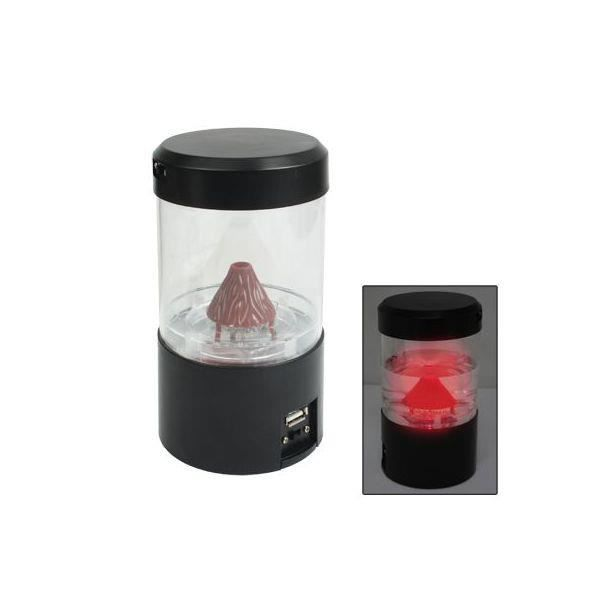 Mini lampe lave usb lectrique rouge gadget d achat for Lampe a lave maison