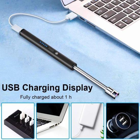USB Briquet /Électrique Double Arc Briquet Rechargeable//Coupe-Vent//Long Life Briquet Sans Flamme Plasma Briquet Outils Accessoires Pour Fumeurs,Style 1