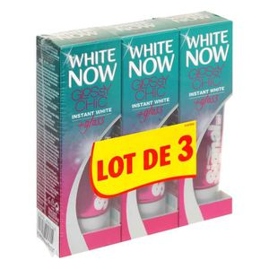 SIGNAL Dentifrice White Now Glossy - 3x50ml