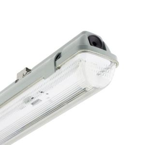 TUBE LUMINEUX Réglette Étanche pour un tube LED 600mm PC-PC Conn