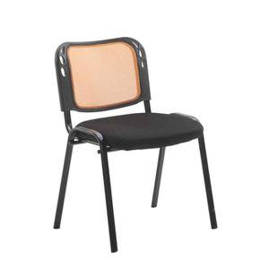 CHAISE DE BUREAU Chaise visiteur assise rembourrée revêtement à mai