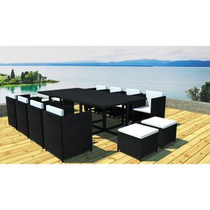 salon de jardin 12 places achat vente pas cher. Black Bedroom Furniture Sets. Home Design Ideas