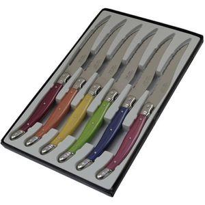 COUTEAU DE TABLE PRADEL EXCELLENCE Boîte de 6 couteaux Laguiole - L
