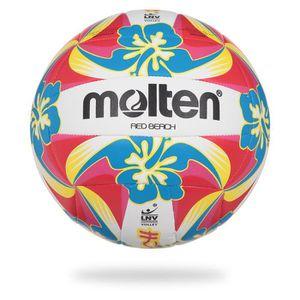BALLON DE VOLLEY-BALL MOLTEN Ballon De Beach-Volley Logo Lnv - Rouge et