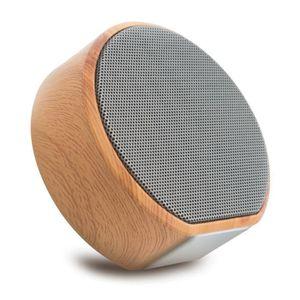 ENCEINTE NOMADE Portable Mini Grain De Bois Sans Fil Bluetooth Hau