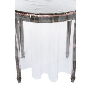 nappe ronde transparente achat vente nappe ronde transparente pas cher cdiscount. Black Bedroom Furniture Sets. Home Design Ideas