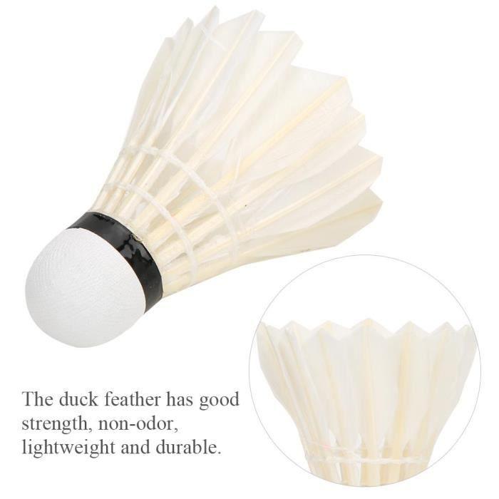 BOYOU 3pcs badminton petits volants volants balles de formation de plumes de canard coupe-vent pour le sport de plein air