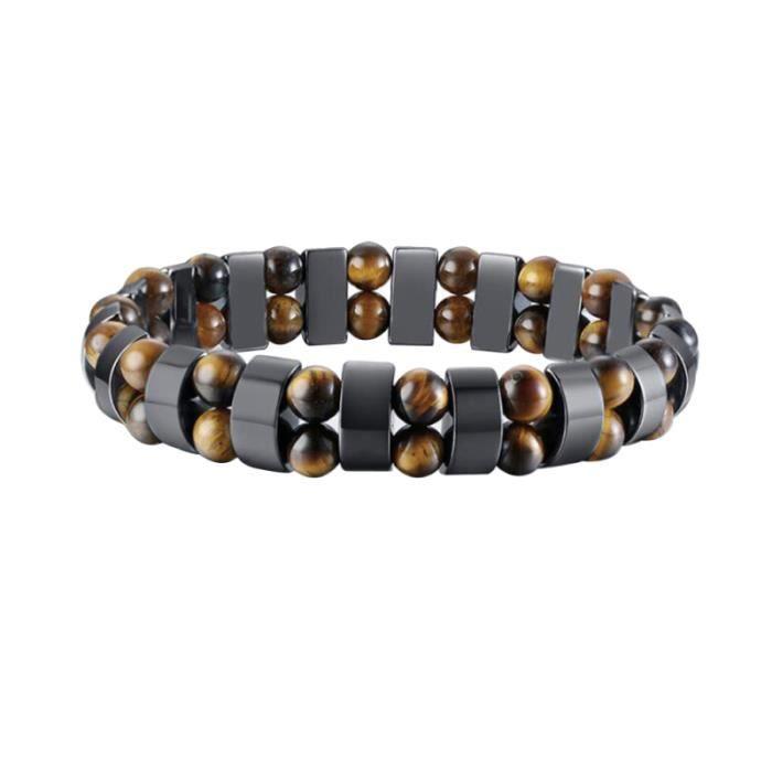 1 Pc Bracelet Durable Élégant À La Mode Perles D'hématite Pour Hommes Accessoire pour BRACELET - GOURMETTE - JONC