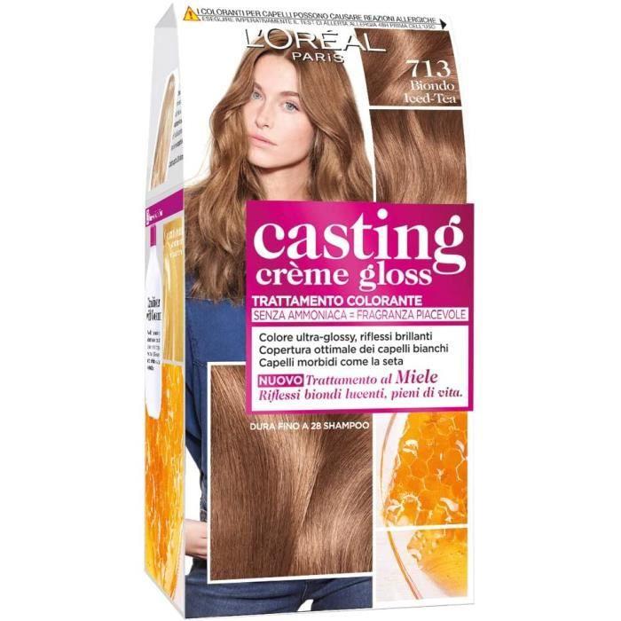Teinture cheveux Casting Crème Gloss, sans ammoniaque pour un parfum agréable, 713 blond Iced-Tea