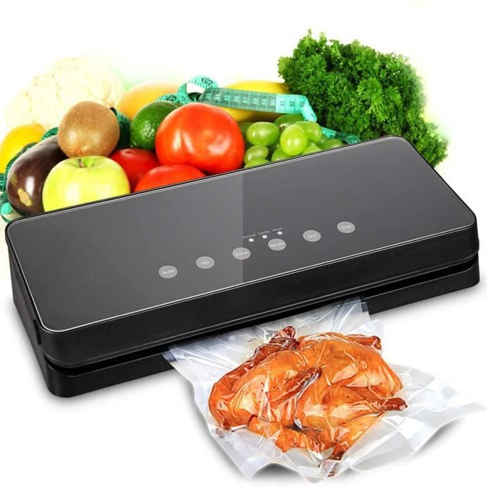 Machine Sous Vide Automatique Appareil Sous Videuse Alimentaire Pour la Cuisine et la Conservation Soudeuse Sous Vide Noir