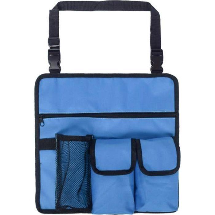 Chaise Pliante Siège Portable Multifonction,Chaise + Sac à Dos pour Pêche Camping Voyages Plage Pique-nique Extérieurs, Bleu