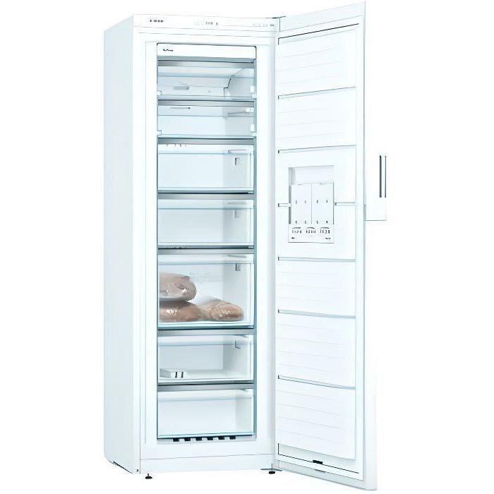 BOSCH GSN33VWEP - Congélateur armoire - 225 L - Froid no frost multiairflow - A++ - L 60 x H 176 cm - Blanc