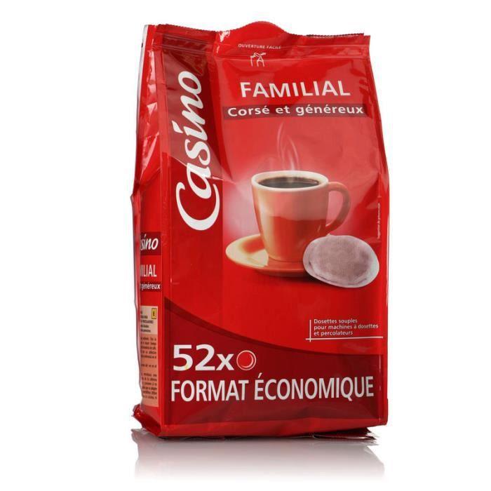 CASINO Dosettes café corsé et généreux x52