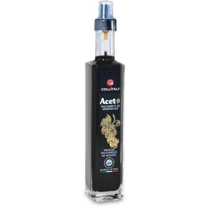 COLLITALI Bouteille spray CONTESSA vinaigre balsamique de Modène IGP - sans caramel - rechargeable - 250 ml