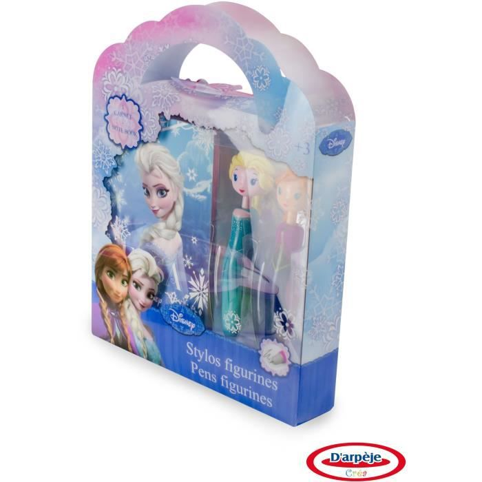 FROZEN - Coffret 2 Stylos figurines + Carnet