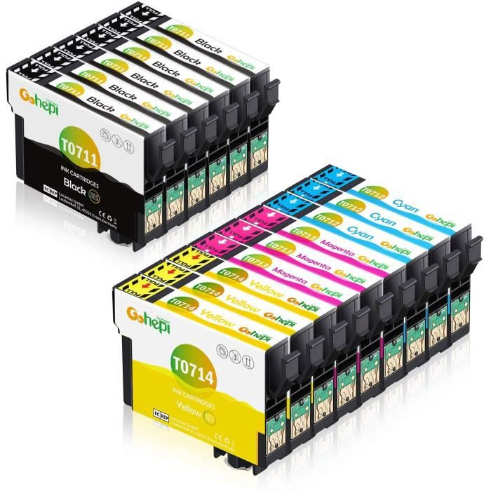 Cartouche d imprimante Epson T0711 T0712 T0713 T0714 T0715 compatible Epson Stylus SX218 SX400 DX8450 SX415 SX515W SX215 DX4050