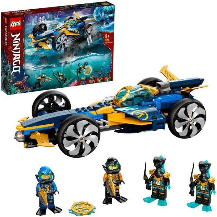 LEGO® 71752 NINJAGO® Le bolide ninja sous-marin Set de Construction, Sous-marin et Voiture avec Mini Figurines de Cole et Jay