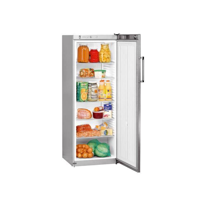 Liebherr Premium FKvsl 3610 Réfrigérateur pose libre largeur : 60 cm profondeur : 61 cm hauteur : 164 cm argenté(e)