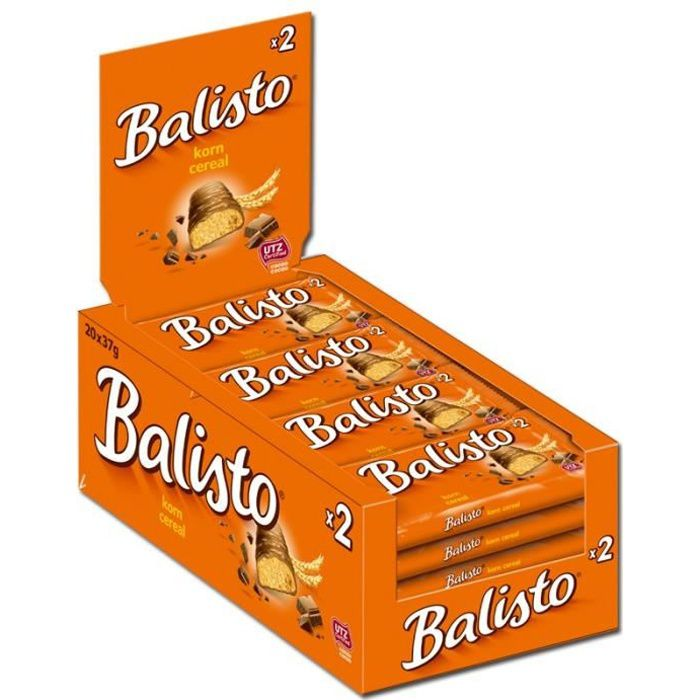 Balisto mélange de grains céréales, barres, chocolat, 20 pièces