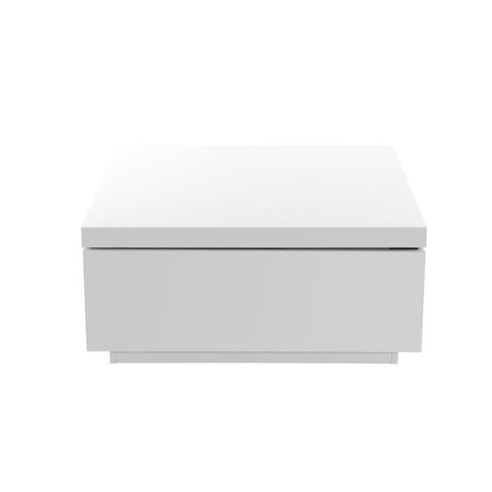 Miliboo - Table basse design laquée blanc JANA