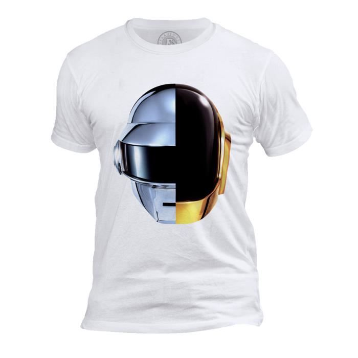 T-shirt Homme Col Rond Daft Punk Casques Robot RAM French Touch Electro