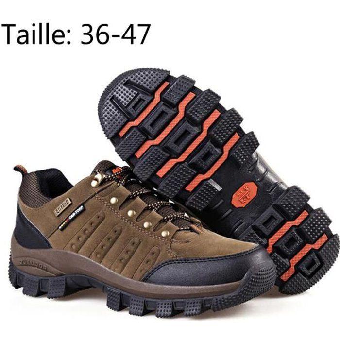 Chaussure Homme Femme Mixte Randonnée Marche Voyage Imperméable Confort Grande taille