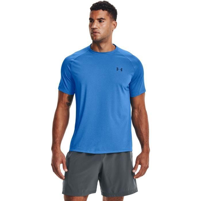 T-shirt Under Armour à manches courtes Tech - bleu brillant/bleu marine - XXL