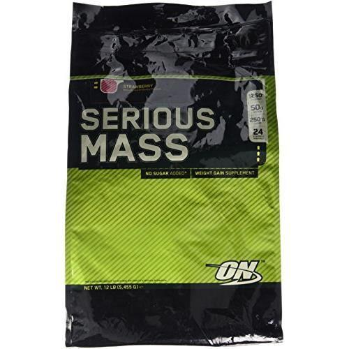 Optimum Nutrition Prise de Poids Serious Mass Fraise 5454 g