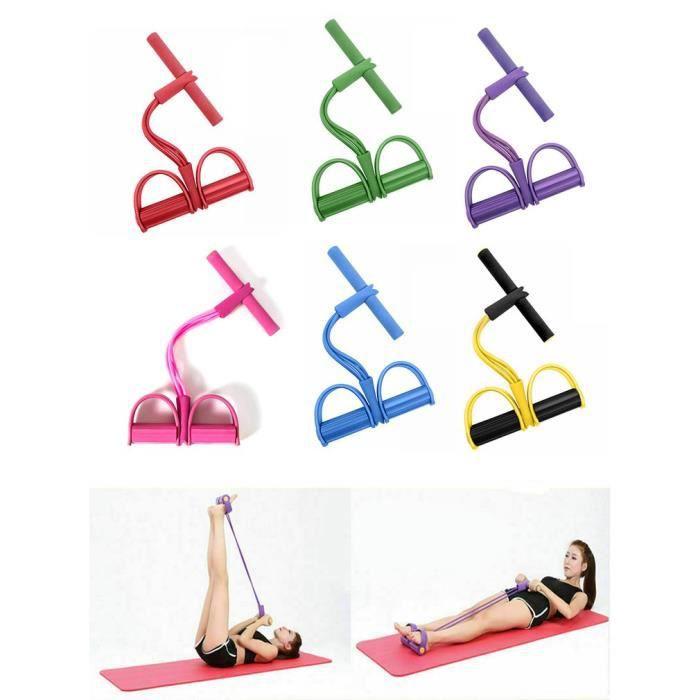 Bande de résistance fitness musculation yoga pour traction élastique sport gymnastique - rose