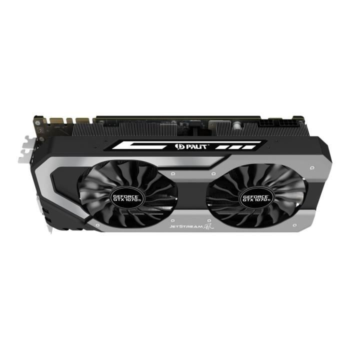 Palit Geforce Gtx 10 Series Gtx 1070 Ti Jetstream Carte graphique Gf Gtx 1070 Ti 8 Go Gddr5 Pcie 3.0 x16 Dvi, Hdmi, 3 x...