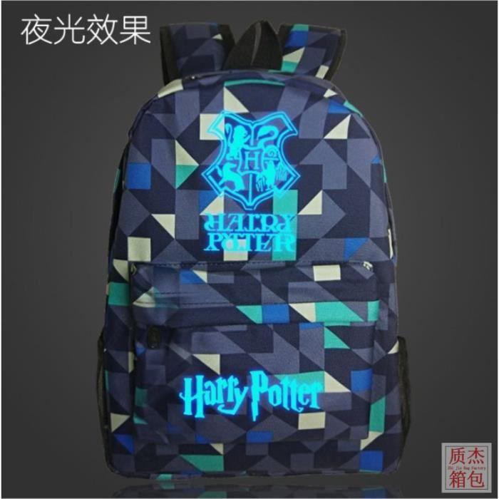 Harry Potter-Sac à dos Noctilucent Fluorescence-cadeau Noël anniversaire pour fils et fille,sac d'école-cartable FK04