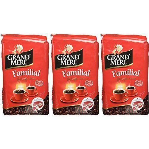 CAFÉ GRAND MERE Familial Grain de Café 1 kg - Lot de 3