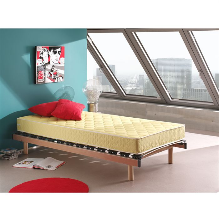 matelas 70x140 mousse jaune ouessant achat vente. Black Bedroom Furniture Sets. Home Design Ideas