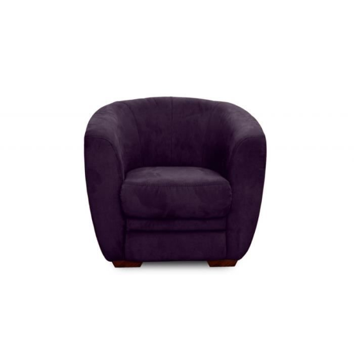 fauteuil cabriolet parker prune achat vente fauteuil. Black Bedroom Furniture Sets. Home Design Ideas