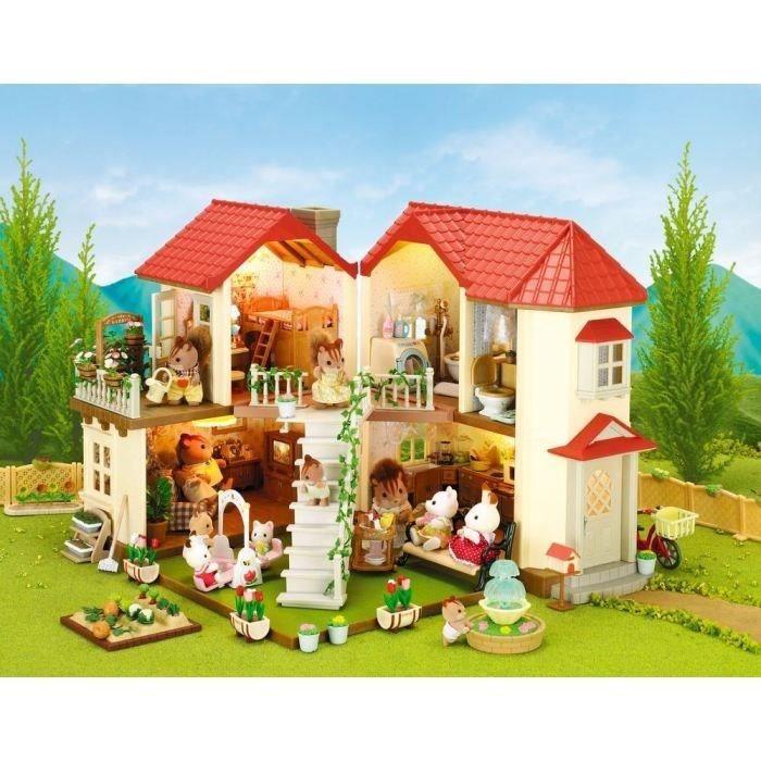 Sylvanian Families 2752 La Grande Maison Tradition Eclairee Achat Vente Figurine Personnage Cdiscount
