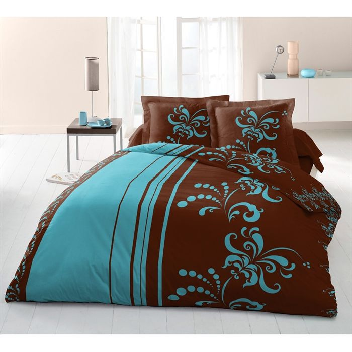 lily blue parure de drap 4 pi ces 240 x 300 cm achat. Black Bedroom Furniture Sets. Home Design Ideas