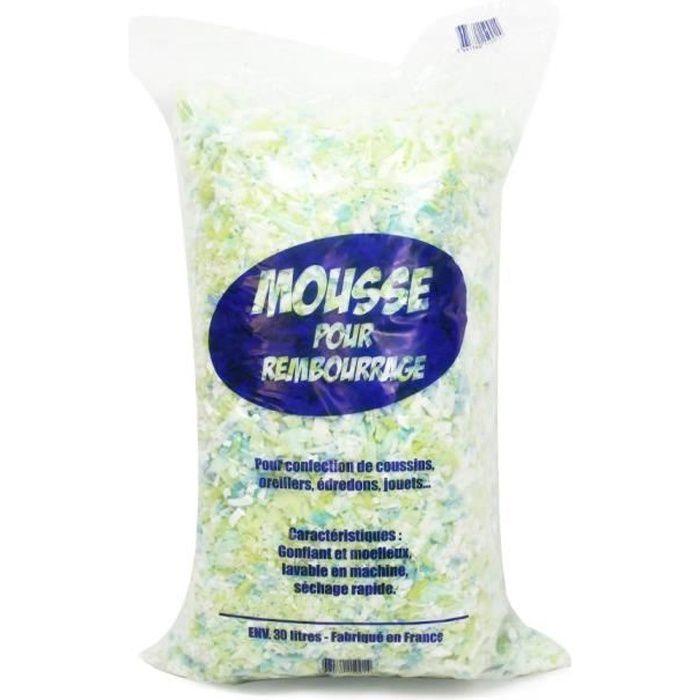 OUATE Rembourrage flocons mousse polyuréthane sac 30 L