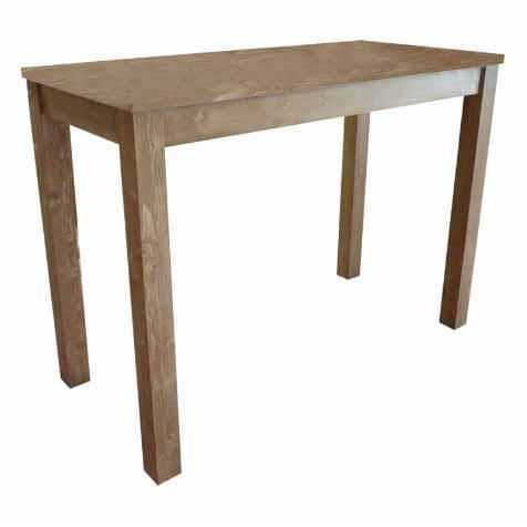 Table haute mange debout en pin massif cir mie achat for Table en pin massif